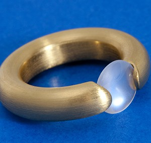 Moonstone Tension Ring