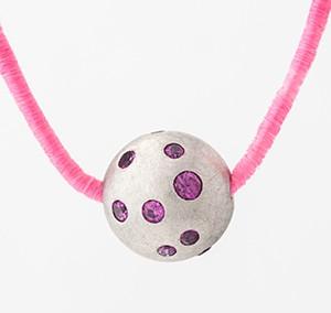 Pink Sapphire Bead